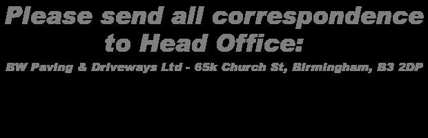 Driveways Solihull address with logo Address