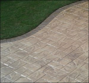 Driveways Solihull patio stamped imprinted concrete patio