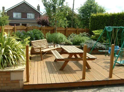Wooden decking patio in Solihull Birmingham Uk West Midlands by Driveways Solihull