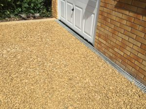 new finished gravel driveway by Driveways Solihull